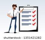 flat design illustration goal... | Shutterstock .eps vector #1351421282