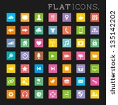modern flat icon set. a large...
