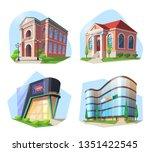 set of isolated modern... | Shutterstock .eps vector #1351422545