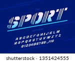 vector sport font and alphabet. ... | Shutterstock .eps vector #1351424555