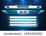 scoreboard broadcast graphic... | Shutterstock .eps vector #1351426532