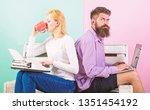 colleagues different work...   Shutterstock . vector #1351454192