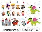 fantasy fairy tale clipart with ... | Shutterstock .eps vector #1351454252