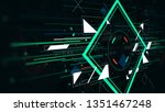 tech futuristic abstract... | Shutterstock . vector #1351467248