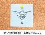sales funnel lead generation... | Shutterstock . vector #1351486172