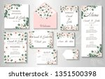 wedding invitation  menu ... | Shutterstock .eps vector #1351500398