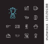 kitchenware icons set. grater... | Shutterstock . vector #1351501388