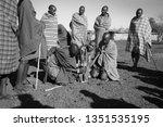 unidentified maasai men on oct... | Shutterstock . vector #1351535195