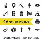 service icons set with usa ...