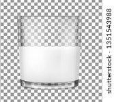 realistic transparent glass...   Shutterstock .eps vector #1351543988