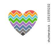 love heart chevron style. logo... | Shutterstock .eps vector #1351555232