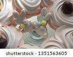 sweets for the easter table.... | Shutterstock . vector #1351563605