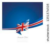 uk flag ribbon new abstract... | Shutterstock .eps vector #1351576535