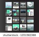 set of modern trendy covers... | Shutterstock .eps vector #1351582388