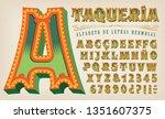 an elegant and ornate alphabet... | Shutterstock .eps vector #1351607375