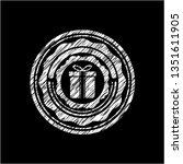 gift box icon inside chalkboard ... | Shutterstock .eps vector #1351611905