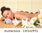 beautiful relaxing woman with... | Shutterstock . vector #135162992