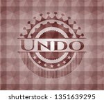 undo red seamless emblem or... | Shutterstock .eps vector #1351639295