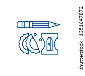 pencil and sharpener line icon... | Shutterstock .eps vector #1351647872