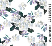 flower seamless pattern with ... | Shutterstock .eps vector #1351650965
