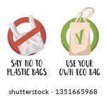 ecological concept   plastic... | Shutterstock .eps vector #1351665968
