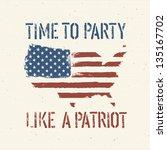 american patriotic poster ... | Shutterstock .eps vector #135167702