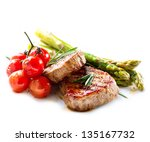 Постер, плакат: BBQ Steak Barbecue Grilled