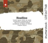 camouflage background with... | Shutterstock .eps vector #135167768