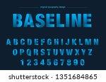gradient line simple typography ... | Shutterstock .eps vector #1351684865