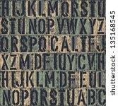 letterpress seamless background....   Shutterstock .eps vector #135168545