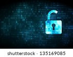 privacy concept  pixelated... | Shutterstock . vector #135169085