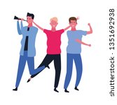 people dancing and having fun | Shutterstock .eps vector #1351692938