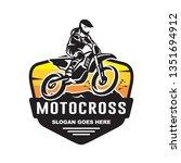 motocross logo template | Shutterstock .eps vector #1351694912