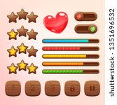 cartoon wooden game assets  kit ...