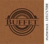buffet retro wooden emblem | Shutterstock .eps vector #1351717088