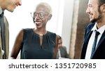 happy business people having a...   Shutterstock . vector #1351720985
