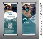 business roll up. standee... | Shutterstock .eps vector #1351745492
