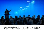 corporate businessman giving a... | Shutterstock . vector #1351764365