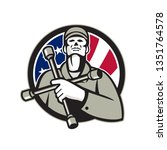 illustration of an american... | Shutterstock .eps vector #1351764578