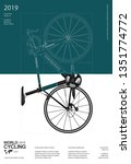 cycling poster design template... | Shutterstock .eps vector #1351774772