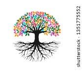 vibrant tree logo illustration...   Shutterstock .eps vector #1351775552
