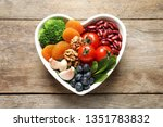 Bowl With Products For Heart...
