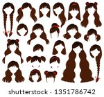 types of women s hairstyles for ... | Shutterstock .eps vector #1351786742
