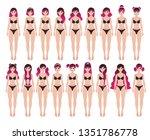 vector illustration of pink... | Shutterstock .eps vector #1351786778