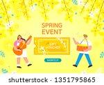 spring shopping illustration.... | Shutterstock .eps vector #1351795865