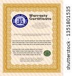 orange warranty. money style...   Shutterstock .eps vector #1351801535