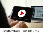 video marketing audio video  ... | Shutterstock . vector #1351813712
