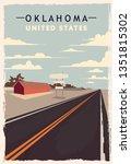 Oklahoma Retro Poster. Usa...