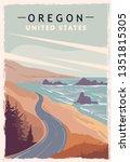 Oregon Retro Poster. Usa Oregon ...
