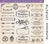 alligraphic decoration... | Shutterstock . vector #135181718